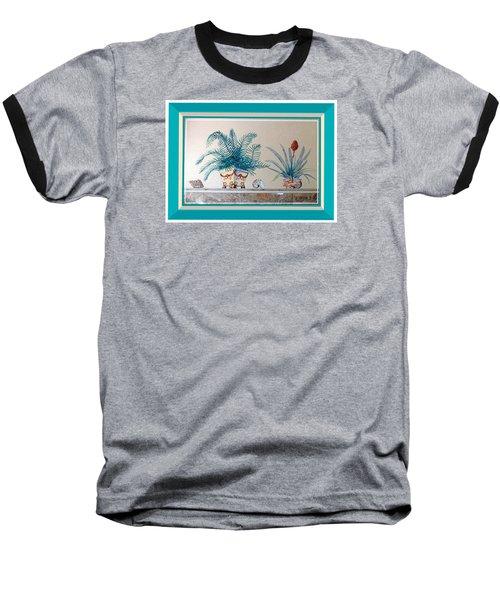 Trompe L'oeil Plants Baseball T-Shirt