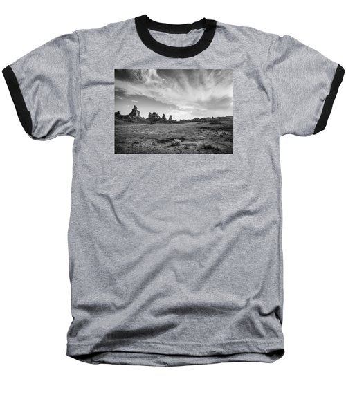 Trona Pinnacles Sky Baseball T-Shirt