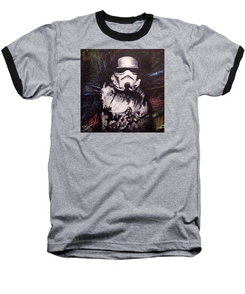 Baseball T-Shirt featuring the painting Trooper  by Dan Wagner