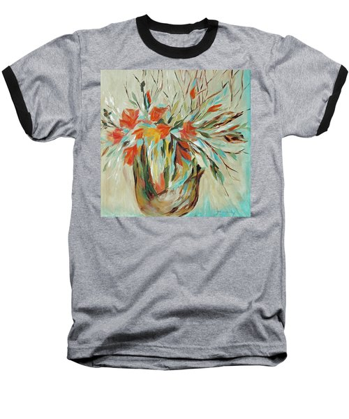 Baseball T-Shirt featuring the painting Tropical Arrangement by Joanne Smoley