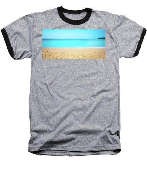 Tropical Art - Turquoise Sand Beach Lagoon Photography Baseball T-Shirt