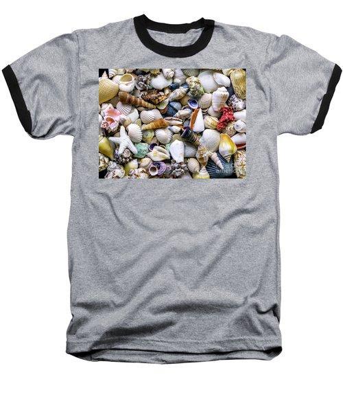 Tropical Beach Seashell Treasures 1500a Baseball T-Shirt