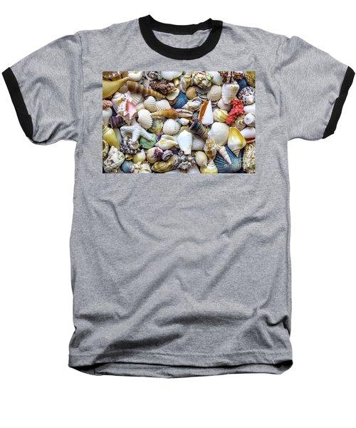 Tropical Beach Seashell Treasures 1529b Baseball T-Shirt