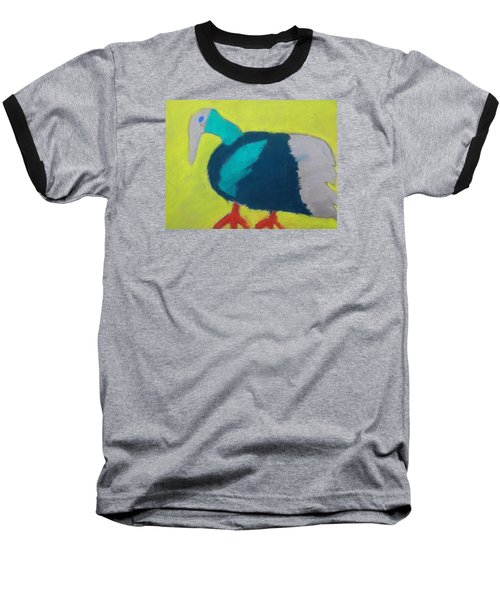 Baseball T-Shirt featuring the pastel Tropical Bird by Artists With Autism Inc