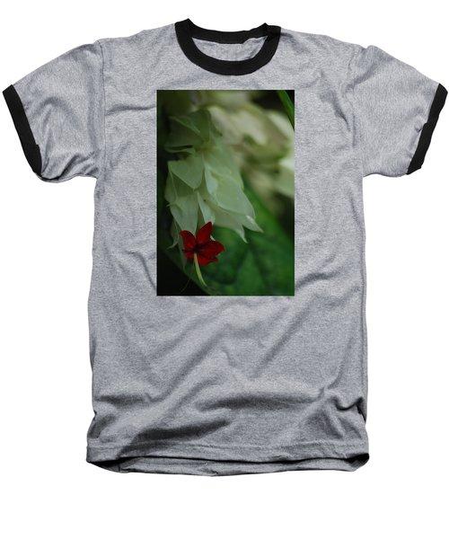 Baseball T-Shirt featuring the photograph Tropical Bleeding Heart by Ramona Whiteaker