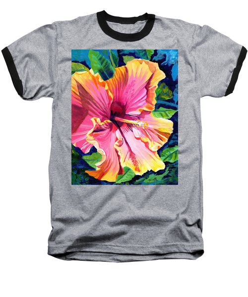 Tropical Bliss Hibiscus Baseball T-Shirt