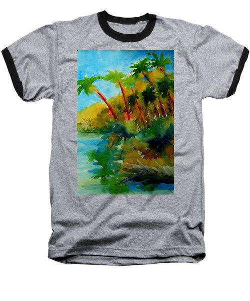 Tropical Canal Baseball T-Shirt