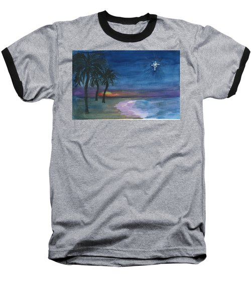 Baseball T-Shirt featuring the painting Tropical Christmas by Donna Walsh