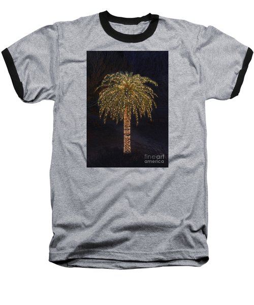 Tropical Christmas Baseball T-Shirt