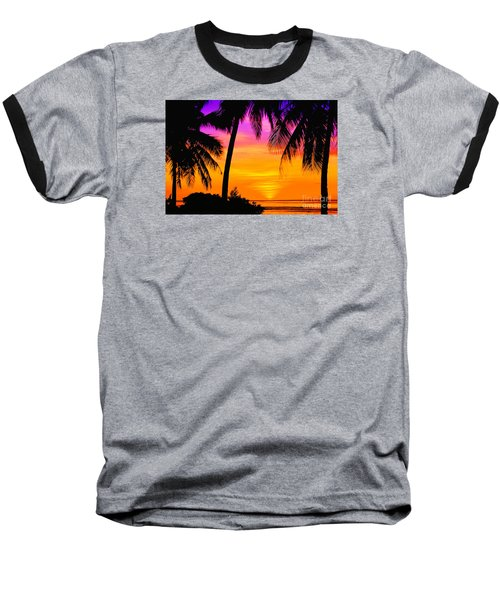 Tropical Delight Baseball T-Shirt by Scott Cameron