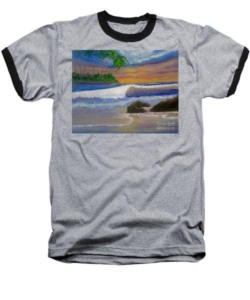 Tropical Dream Baseball T-Shirt by Holly Martinson