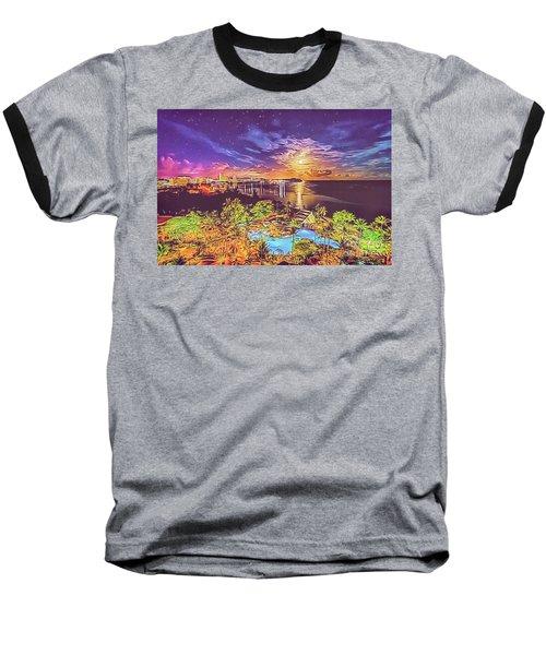 Baseball T-Shirt featuring the digital art Tropical Dream by Ray Shiu