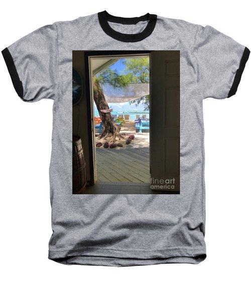 Tropical Entrance Baseball T-Shirt