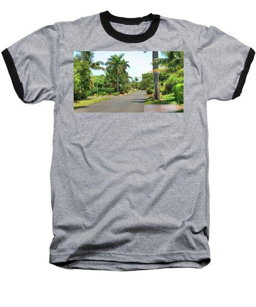 Tropical Feel Residential Street Baseball T-Shirt