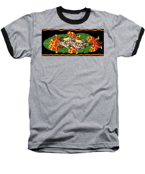 Baseball T-Shirt featuring the painting Tropical Fish by Debbie Chamberlin