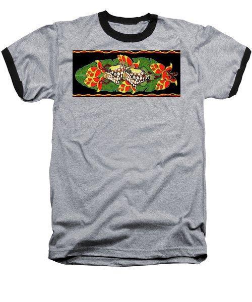 Tropical Fish Baseball T-Shirt by Debbie Chamberlin