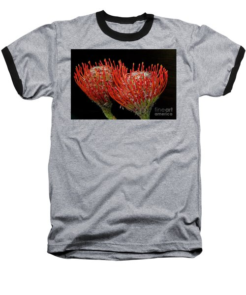 Tropical Flower Baseball T-Shirt by Elvira Ladocki
