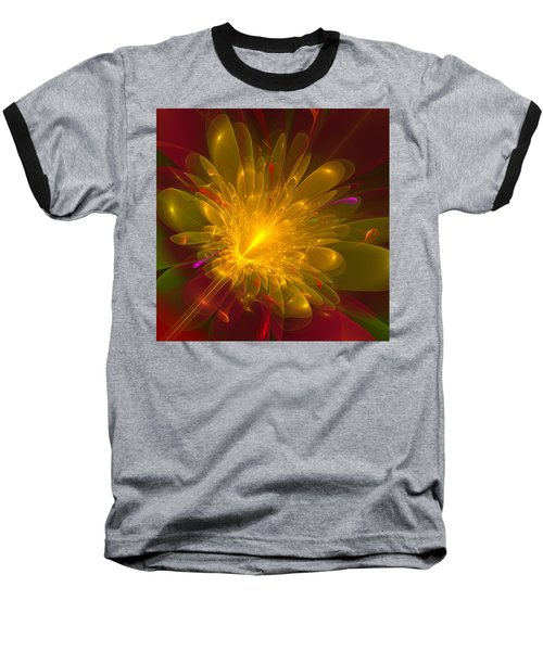 Baseball T-Shirt featuring the digital art Tropical Flower by Svetlana Nikolova