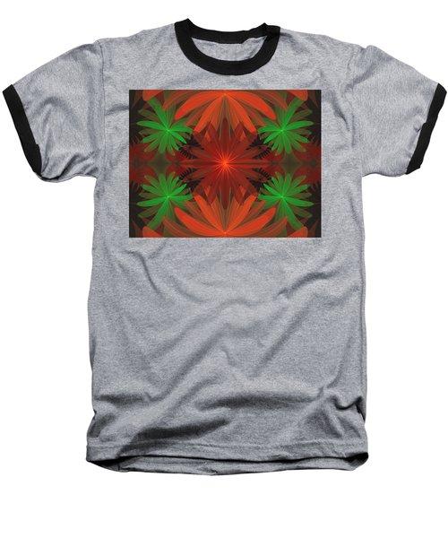 Tropical Flowers Baseball T-Shirt