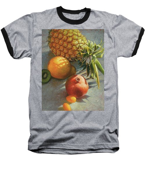 tropical Fruit Large Baseball T-Shirt