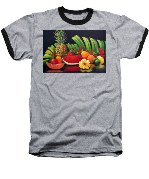 Tropical Fruit Baseball T-Shirt