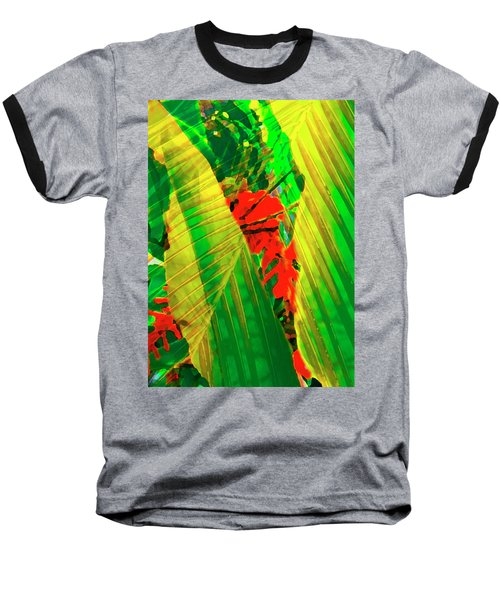 Tropical Fusion Baseball T-Shirt by Stephen Anderson