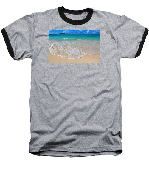 Tropical Hawaiian Shore Baseball T-Shirt