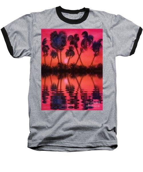 Tropical Heat Wave Baseball T-Shirt by Holly Martinson