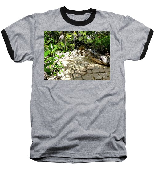 Baseball T-Shirt featuring the photograph Tropical Hiding Spot by Francesca Mackenney