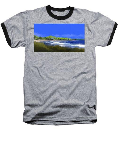 Tropical Island Coast Baseball T-Shirt