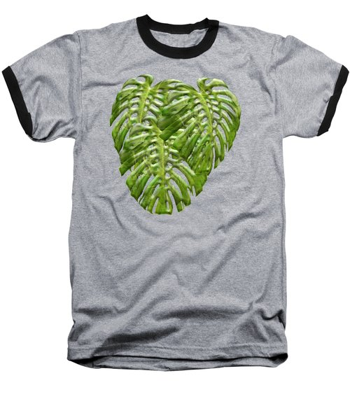 Tropical Jungle Greens Baseball T-Shirt