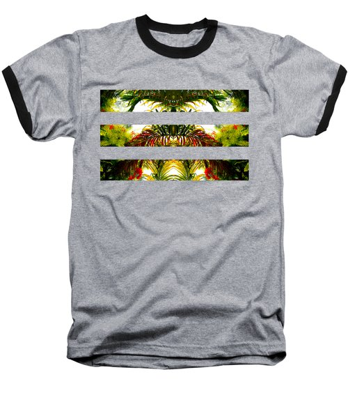 Tropical Kaleidoscope Baseball T-Shirt