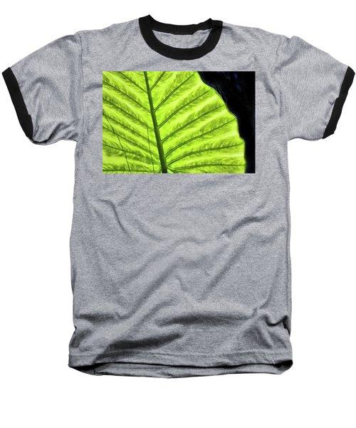 Tropical Leaf Baseball T-Shirt