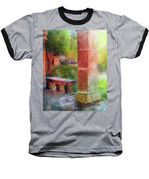 Baseball T-Shirt featuring the digital art Tropical Memories by Lois Bryan