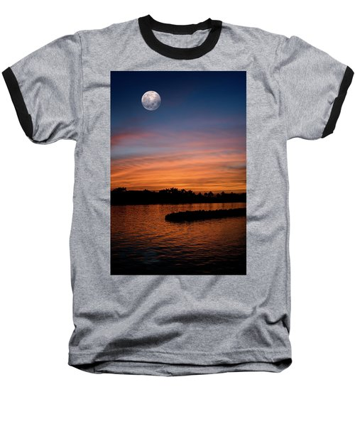 Baseball T-Shirt featuring the photograph Tropical Moon by Laura Fasulo