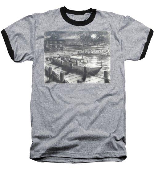 Tropical Moonrise Baseball T-Shirt