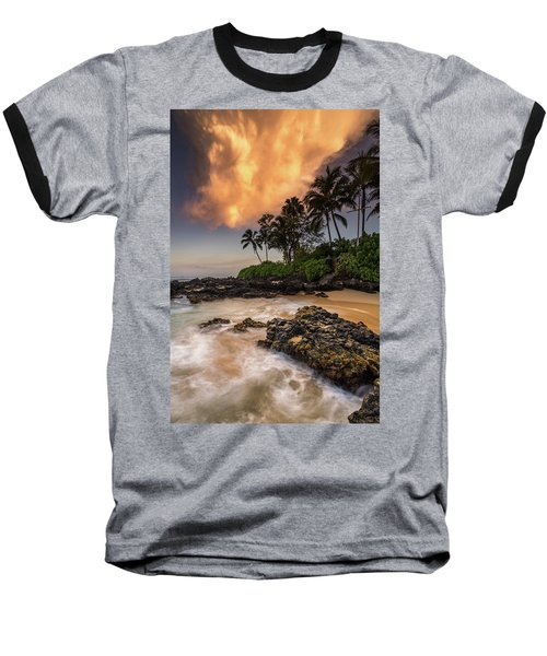 Tropical Nuclear Sunrise Baseball T-Shirt by Pierre Leclerc Photography