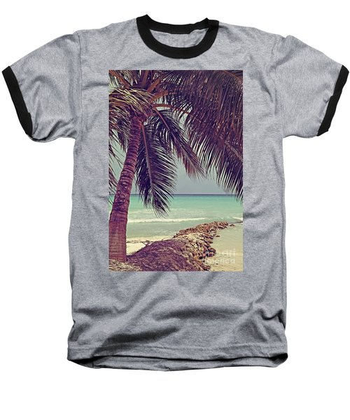 Tropical Ocean View Baseball T-Shirt