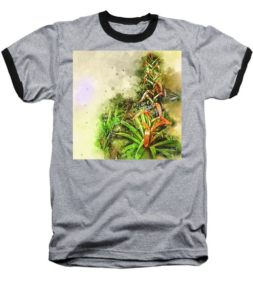 Tropical Orange Baseball T-Shirt