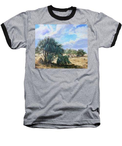 Tropical Orange Grove Baseball T-Shirt