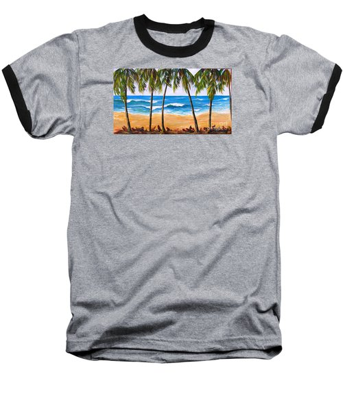Tropical Palms 2 Baseball T-Shirt