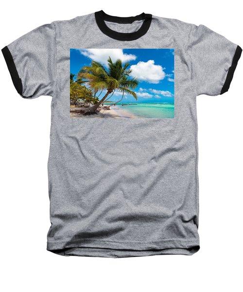 Tropical Paradise Baseball T-Shirt