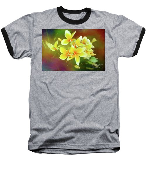Baseball T-Shirt featuring the photograph Tropical Plumeria Art By Kaye Menner by Kaye Menner