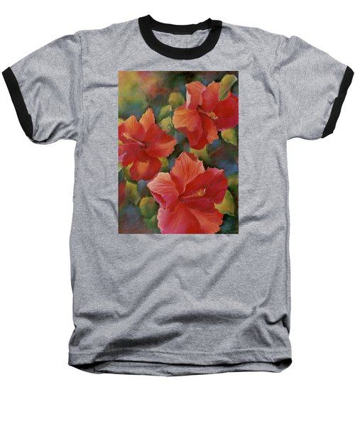 Baseball T-Shirt featuring the painting Tropical Punch by Ann Peck