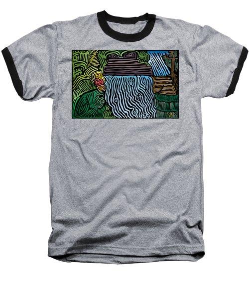 Tropical River Baseball T-Shirt