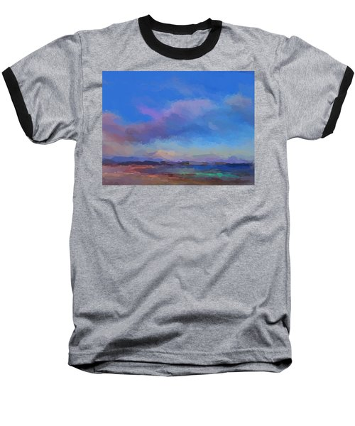 Tropical Seascape Baseball T-Shirt by Anthony Fishburne