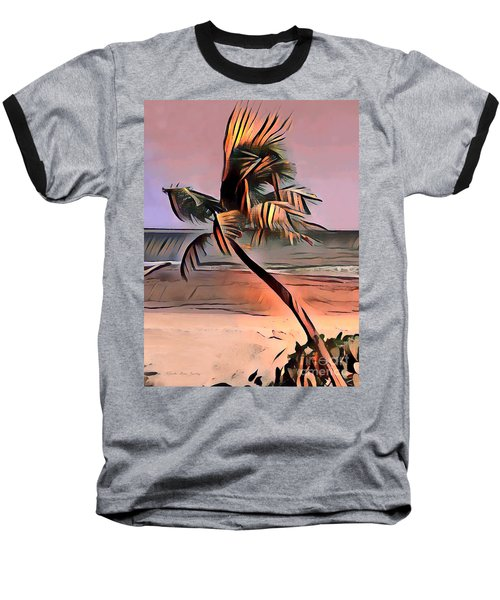 Tropical Seascape Digital Art E7717l Baseball T-Shirt