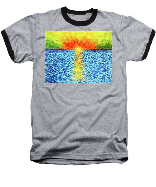 Tropical Sunrise Baseball T-Shirt