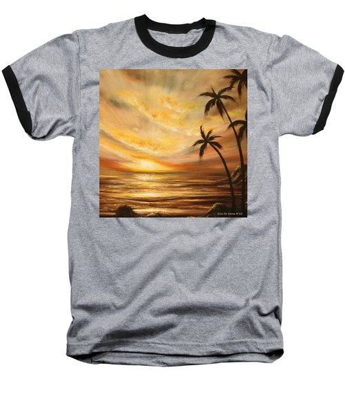 Tropical Sunset 64 Baseball T-Shirt