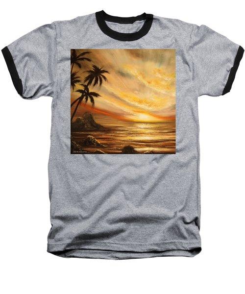 Tropical Sunset 65 Baseball T-Shirt